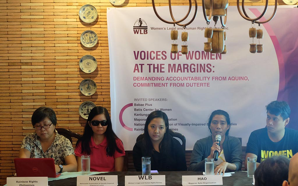 Press Release: Women groups urge Duterte to outdo PNoy in upholding women's rights